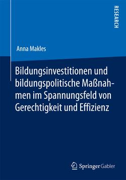Bildungsinvestitionen und bildungspolitische Maßnahmen im Spannungsfeld von Gerechtigkeit und Effizienz von Makles,  Anna