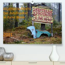 BILKYRKOGÅRDEN Der Autofriedhof im Kyrkö Mosse (Premium, hochwertiger DIN A2 Wandkalender 2021, Kunstdruck in Hochglanz) von Klein,  Harald