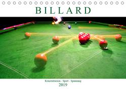 Billard. Konzentration – Sport – Spannung (Tischkalender 2019 DIN A5 quer) von Robert,  Boris