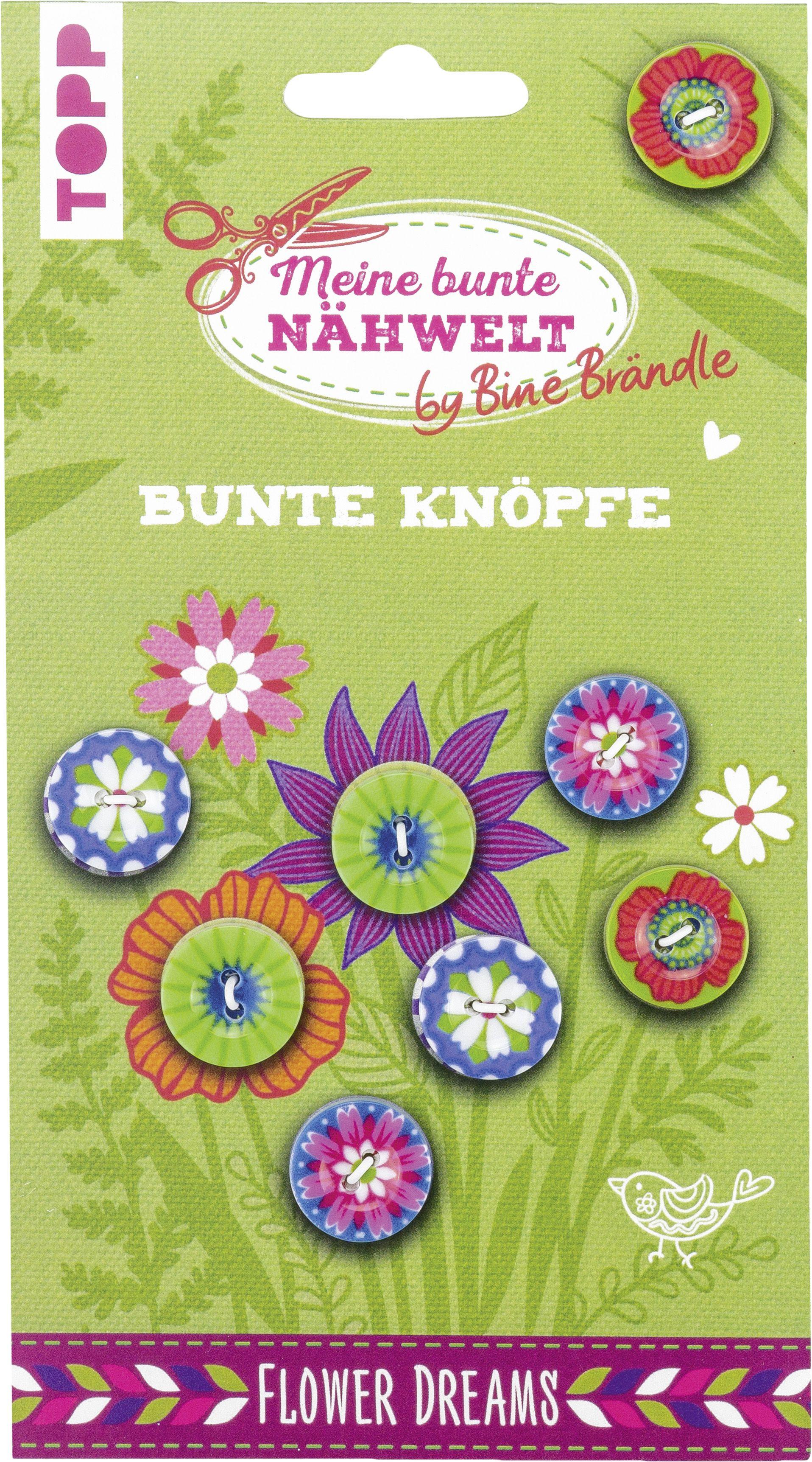 Knöpfe Weihnachtsmotive.Bine Brändle Bunte Knöpfe Flower Dreams Von Brändle Bine 8 Knöpf
