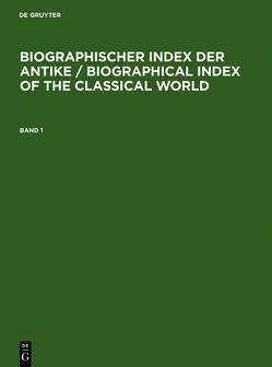 Biographischer Index der Antike von Schmuck,  Hilmar