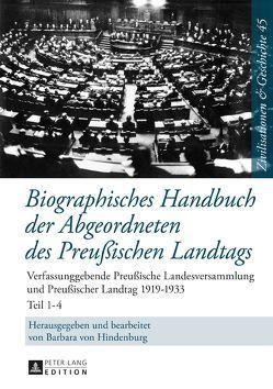 Biographisches Handbuch der Abgeordneten des Preußischen Landtags von Hindenburg,  Barbara von
