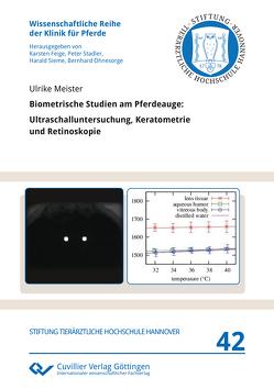 Biometrische Studien am Pferdeauge (Band 42) von Meister,  Ulrike