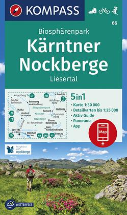 KOMPASS Wanderkarte Biosphärenpark Kärntner Nockberge, Liesertal von KOMPASS-Karten GmbH