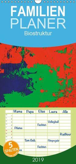Biostruktur – Familienplaner hoch (Wandkalender 2019 , 21 cm x 45 cm, hoch) von Lammers,  Heiner