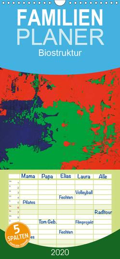 Biostruktur – Familienplaner hoch (Wandkalender 2020 , 21 cm x 45 cm, hoch) von Lammers,  Heiner