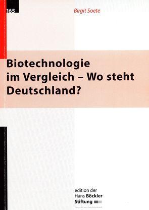 Biotechnologie im Vergleich – Wo steht Deutschland? von Soete,  Birgit