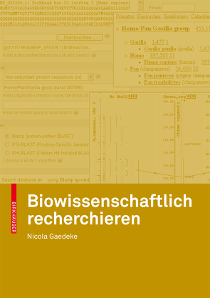 Biowissenschaftlich recherchieren von Gaedeke,  Nicola