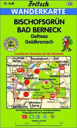 Bischofsgrün – Bad Berneck von Fritsch Landkartenverlag
