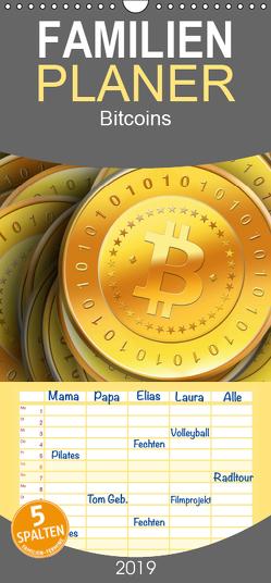 Bitcoins – Familienplaner hoch (Wandkalender 2019 , 21 cm x 45 cm, hoch) von Wallets,  BTC