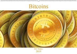 Bitcoins (Wandkalender 2019 DIN A2 quer) von Wallets,  BTC