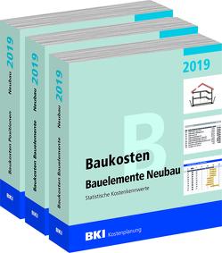 BKI Baukosten Gebäude, Positionen und Bauelemente Neubau 2019 – Teil 1-3