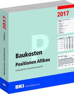 BKI Baukosten Positionen Altbau 2017