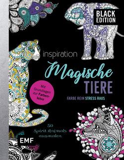 Black Edition: Magische Tiere – 50 Spirit Animals ausmalen