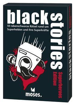 black stories – Superheroes Edition von Harder,  Corinna, Schumacher,  Jens, Skopnik,  Bernhard