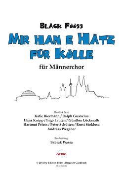 Bläck Fööss – Chorausgaben / Mir han e Hätz für Kölle – Bläck Fööss von Wassa,  Babrak
