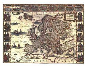 Blaeu's Map of Europe von 1620 (Digitaldruck) von Whitfield,  Peter