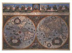 Blaeu's World Map von 1665 (Digitaldruck) von Whitfield,  Peter
