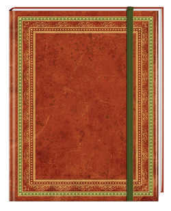 Blank Book Lederlook rotbraun (groß) – Einschreibebuch / Notizbuch