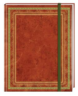 Blank Book Lederlook rotbraun (klein) – Einschreibebuch / Notizbuch von Anaconda