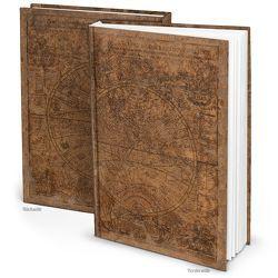 """Blanko Notizbuch """"Alte Welt"""" (Hardcover A4, Blankoseiten)"""