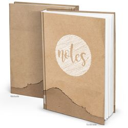 Blanko Notizbuch in Kraftpapier-Optik (Hardcover A4, Blankoseiten)