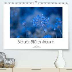 Blauer Blütentraum (Premium, hochwertiger DIN A2 Wandkalender 2020, Kunstdruck in Hochglanz) von Adam,  Ulrike