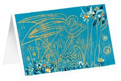 Blauer Engel – Kunst-Faltkarten ohne Text (5 Stück) von Felger,  Andreas