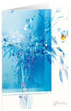 Blauer Strauß – Kunst-Faltkarten ohne Text (5 Stück) von Münch,  Eberhard