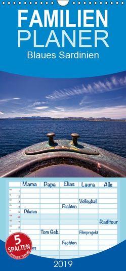 Blaues Sardinien – Familienplaner hoch (Wandkalender 2019 , 21 cm x 45 cm, hoch) von Petra Voß,  ppicture-