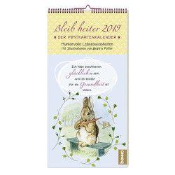 Bleib heiter 2019 – Der Postkartenkalender von Potter,  Beatrix