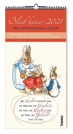 Bleib heiter 2021 – Der Postkartenkalender von Potter,  Beatrix