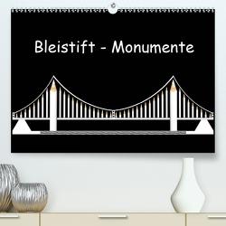 Bleistift-Monumente (Premium, hochwertiger DIN A2 Wandkalender 2021, Kunstdruck in Hochglanz) von Dittmann,  Udo