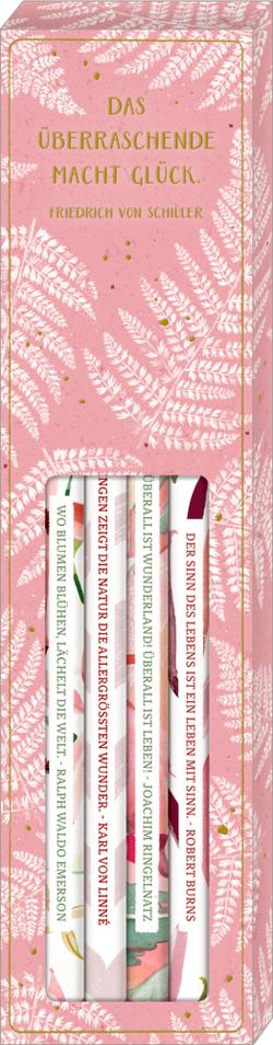 Bleistift-Set mit Sprüchen – All about rosé