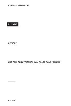 Bleiweiß von Farrokhzad,  Athena, Sondermann,  Clara