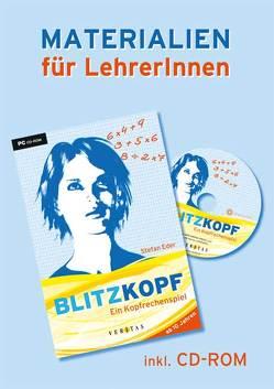 Blitzkopf. Ein Kopfrechenspiel. Materialien für LehrerInnen (inkl. CD-ROM) von Eder,  Stefan