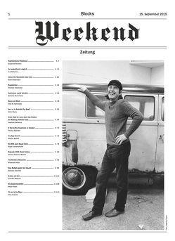 Blocks Weekend Zeitung von Block,  René
