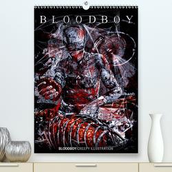 BLOODBOY/CREEPY ILLUSTRATION (Premium, hochwertiger DIN A2 Wandkalender 2021, Kunstdruck in Hochglanz) von BLOODBOY