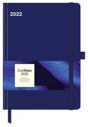 Blue 2022 – Diary – Buchkalender – Taschenkalender – 16×22