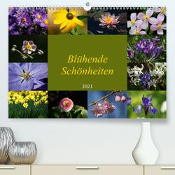 Blühende Schönheiten 2021 (Premium, hochwertiger DIN A2 Wandkalender 2021, Kunstdruck in Hochglanz) von Hebgen,  Peter