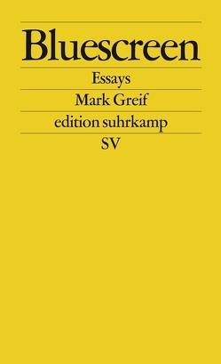 Bluescreen von Greif,  Mark, Vennemann,  Kevin