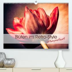 Blüten im Retro-Style (Premium, hochwertiger DIN A2 Wandkalender 2020, Kunstdruck in Hochglanz) von Foto-FukS
