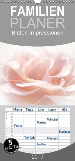 Blüten Impressionen – Familienplaner hoch (Wandkalender 2019 , 21 cm x 45 cm, hoch) von Burlager,  Claudia