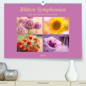 Blüten Symphonien aus den Gärten dieser Erde (Premium, hochwertiger DIN A2 Wandkalender 2020, Kunstdruck in Hochglanz) von Riedel,  Tanja