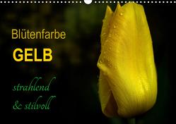 Blütenfarbe GELB (Wandkalender 2021 DIN A3 quer) von Weizel,  Evira