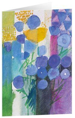 Blütenspiel blau – Kunst-Faltkarten ohne Text (5 Stück) von Felger,  Andreas