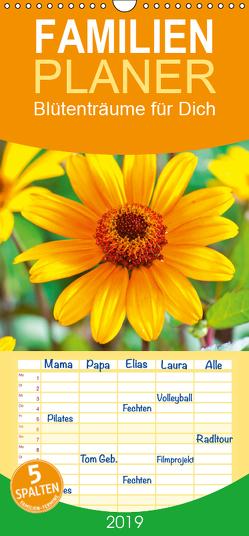 Blütenträume für Dich – Familienplaner hoch (Wandkalender 2019 , 21 cm x 45 cm, hoch) von CALVENDO