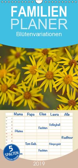 Blütenvariationen / Geburtstagskalender – Familienplaner hoch (Wandkalender 2019 , 21 cm x 45 cm, hoch) von Gruse,  Werner