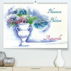 Blumen Blüten Aquarelle (Premium, hochwertiger DIN A2 Wandkalender 2021, Kunstdruck in Hochglanz) von Krause,  Jitka