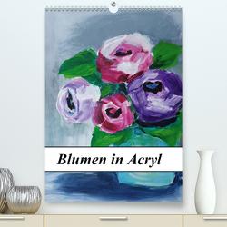 Blumen in Acryl (Premium, hochwertiger DIN A2 Wandkalender 2020, Kunstdruck in Hochglanz) von Harmgart,  Sigrid